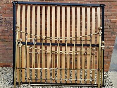 Brass style frame Bed Super king size