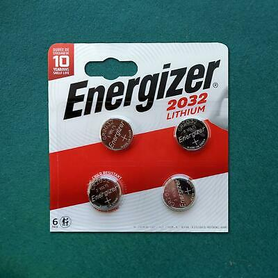 Energizer CR2032 Lithium Coin Cell 3V Battery DL2032, BR2032, SB-T15 [4 PACK]