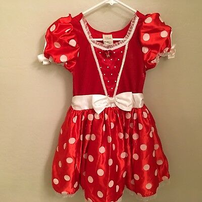 Disney Store Minnie Mouse Red Dress Up Halloween Costume  Girls  7/8