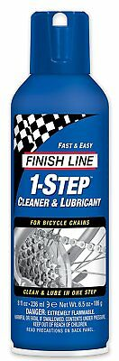 Finish Line 1 Step Bicycle Chain Cleaner  Lubricant Squeeze Bottle