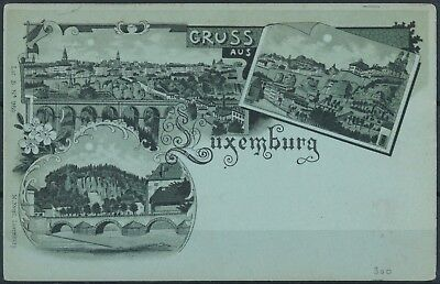 [AI2360] Luxembourg - Gruss aus Luxembourg TB carte postale VOIR PHOTO