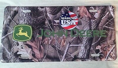 John Deere Camouflage embossed metal License Plate realtree made in USA new