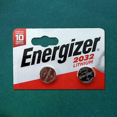 ENERGIZER CR2032 Lithium Coin Cell 3V Battery DL BR 2032 SB-T15  2 BATTERIES NEW