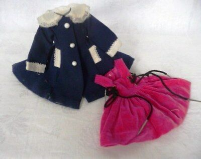 Most adorable Antique Small Size TWO Piece MANUFACTURER Set :  Coat and Dress