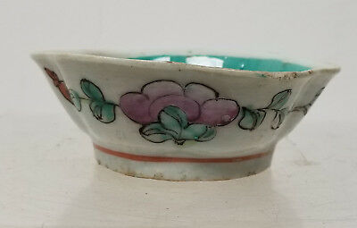 Antique Chinese Vintage 20th Century Enamel Small Bowl Dish
