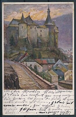 [AI2406] Luxembourg 1920 Art - Clervaux TB carte postale