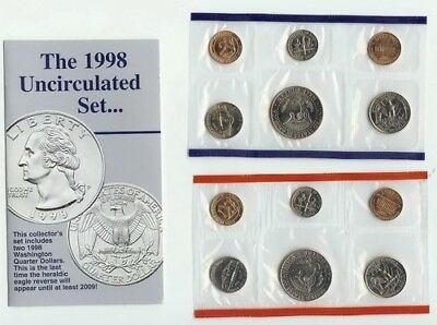 1998 COMPLETE UNITED STATES US MINT COIN SET. U.S. MINT. Brand New