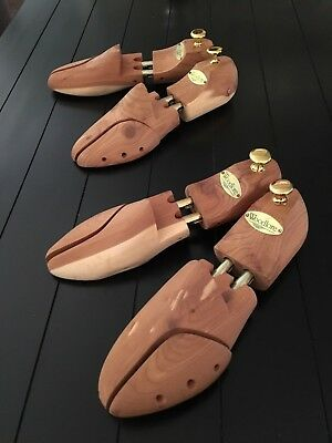 Two pairs of Woodlore Epic Twin Tube Premium Shoe Trees, sz. Small 6.5 7 7 8 8.5