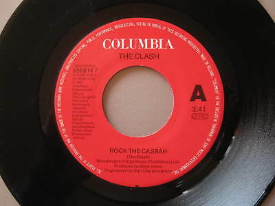 """7"""" PUNK THE CLASH Rock the casbah - Mustapha Dance Columbia RE NL 91 NO COVER"""