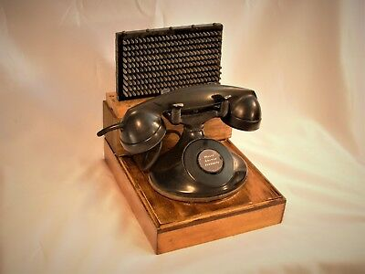 Antique 1900's Western Electric Oval Base Phone, Rare Electric Terminator Block