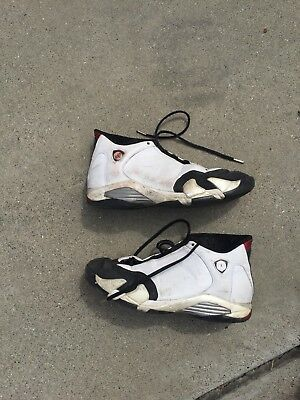 0b5f93a19623fe Nike Air Jordan 14 XIV Retro Black Toe Size 13 Mens White Sneakers 487471- 102