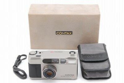【Near Mint in BOX】 Contax T2 35mm Point & Shoot Camera w/ Case Manual From Japan