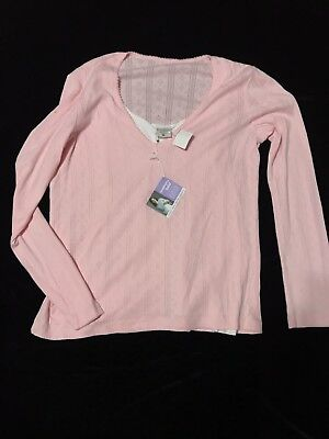 Motherhood Nursing Pullover Knit Top Shirt NEW Womens M Medium Nursingwear Pink