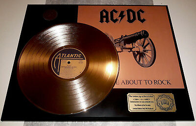 """Acdc - For Those About To Rock 12"""" Lp Goldene Schallplatte"""