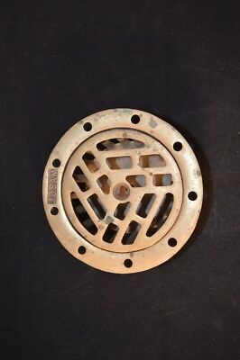 Vintage Antique Josam Solid Brass Industrial Drain Cover & Catch Steam Punk EUC