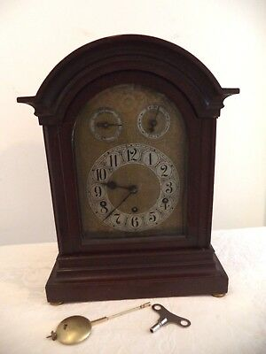 "Massive Antique Excelsior Westminster Chime Bracket Clock ""As Is"" Repair/Restore"