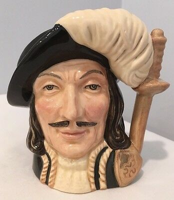 VTG Royal Doulton Athos Small Character Jug D6452 COPR 1955 Three Musketeers 2