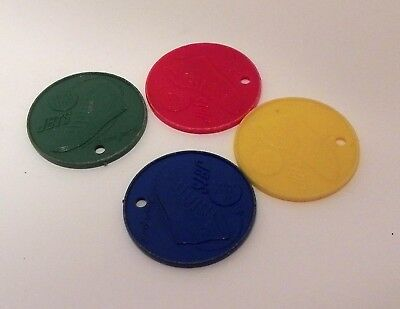 Red Ball Jets Vintage 1950's Trading Coins, Advertising Tokens - Fighter Planes