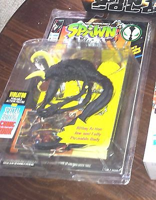 McFarlane SPAWN Action Figure VIOLATOR BLACK VARIANT & Special Edition Comic RAR