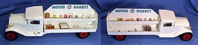 Buddy L Motor Market Pressed Steel Truck Vintage 1930s Clean with Lights Rare