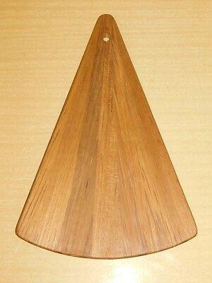 Vintage Dansk Teak Mid Century Modern Cheese Cutting Board Triangle Serving Tray