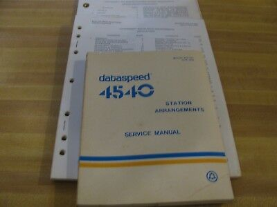 Vintage Bell System Dataspeed 4540Manual/installation