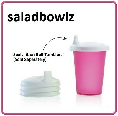 TUPPERWARE SIPPER SEAL DOMED SET for Bell Tumblers! Set 4 Sippy Cup Lids Seals