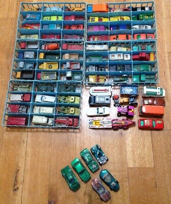 HUGE lot of 78 Vintage LESNEY MATCHBOX CARS & TRUCK Made in ENGLAND Red Line