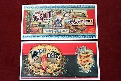 Vintage Advertising Cards Past Cards The New South Tabasco Cane Sugar Oyster