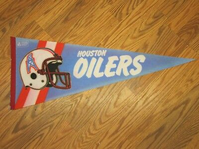 VINTAGE HOUSTON OILERS Felt Pennant Officially Licensed FULL SIZE SHIPPED FLAT!