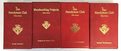 Handyman Club of America DIY Woodworking Home Improvement VHS Tapes Lot of 4