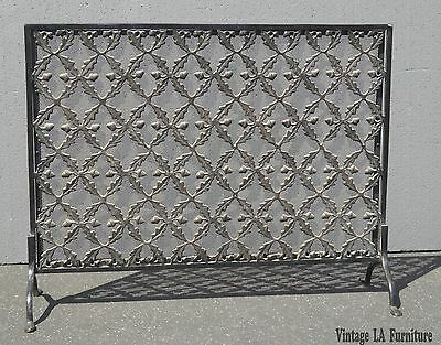 Vintage Spanish Style Ornate Metal & Wrought Iron Decorative FIREPLACE SCREEN
