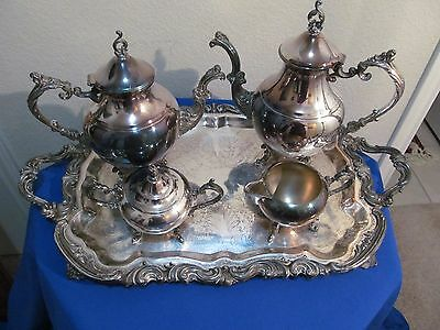 Vintage Early Wm Rogers Coffee-Tea Service 5 Pcs.
