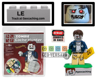 Zombie Cache Hunter with Trackable Brick Geocaching Geocoin
