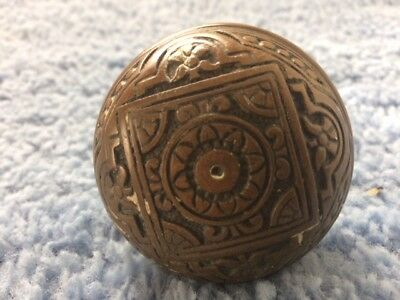Old Eastlake ?? Brass ?? Bronze ?? Door Knob...ornate