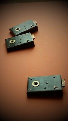"""Antique privacy latch 5"""" rim lock in excellent working order, several available"""