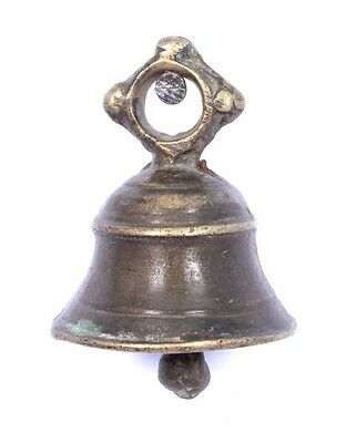 Rare Vintage Handicraft High Age Brass Ritual Temple Bell, Good Sound. i9-50