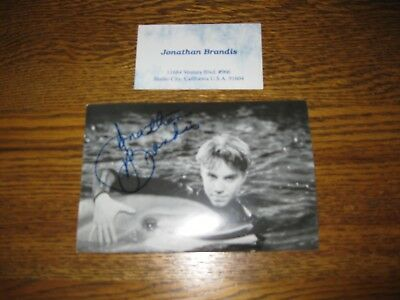 Authentic autograph Photo & Card  SeaQuest  teen idol Jonathan Brandis S King IT