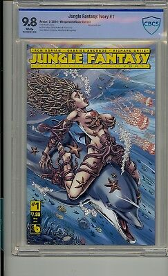 Jungle Fantasy Ivory #1 Cbcs 9.8 Wraparound Nude Variant Not Cgc