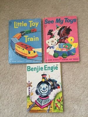 Lot of 3 Junior Elf Books - Little Toy Train,  See My Toys And Benjie Engie