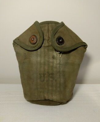 Vintage WWII US Army Canteen Pouch W/Belt Holder