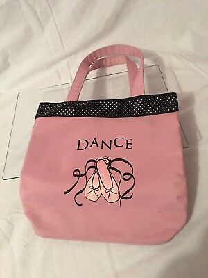 Pre owned Girls Kids Dance Ballet Tap Tote Bag Pink and Black Colors