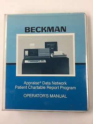 Beckman Appraise Data Network Patient Chartable Report Program Opr Manual