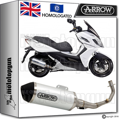 Arrow Full Exhaust System Urban Stainless Steel Hom Kymco K-Xct 125 2012 12