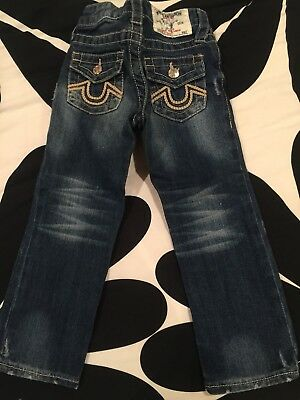 EUC True Religion Straight Leg Jeans Child Sz 3T