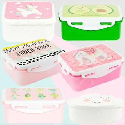 Sass & Belle Childrens Kids Plastic Snack Lunch Boxes Sandwich Food Storage Box