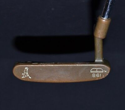 Vintage Old Ping B61 Beryllium Copper Putter Original Grip & Cap RH