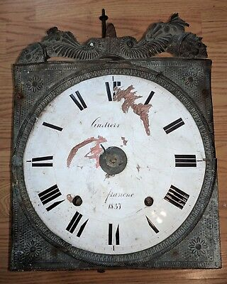Antique Clock Movement French Continental Iron & Brass as is