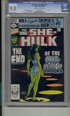 Savage She-Hulk #25 Cgc 9.0 Last Issue White Pages