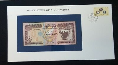 Banknotes of All Nations Bahrain 1/2 Dinar 1973 P7 AUNC